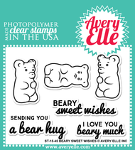 Avery Elle Clear Stamp - Beary Sweet Wishes (ST-15-45)