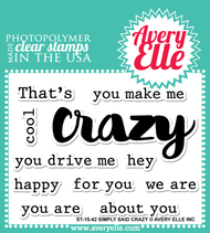Avery Elle Clear Stamp - Simply Said Crazy (ST-15-42)