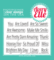 Avery Elle Clear Stamp - Simply Said You (ST-14-37)