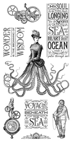 Graphic 45 - Voyage Beneath the Sea - Cling Stamp 3 (IC0361S)