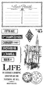 Graphic 45 - Cityscapes - Cling Stamp 3 ( IC0355S)