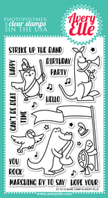 Avery Elle Clear Stamp - Band Camp