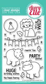 Avery Elle Clear Stamp - Wild Birthday