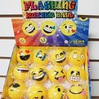 Flashing Rubber EMOJI Balls 12 per display .58 ea