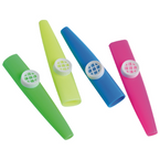 "4"" Asst Color Plastic Kazoos 12 per pack .14 each"