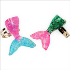 "1.25"" Mermaid Tail Adjustable Rings 6 per pk .30 each"