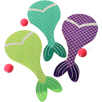 "9"" Mermaid Tail Theme Paddle Balls 12 per pk  .45 ea"