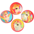 Unicorn Theme Bounce Balls / 32mm  12 per pk .20 each