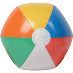 "16"" Inflatable Multi Color Beach Ball 12 per pk .79 ea"