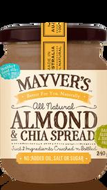 Almond & Chia Spread - Mayver's Organic