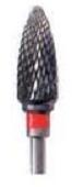 11231 Carbide Cutter, Flame Medium Cross-Cut  1 per pack