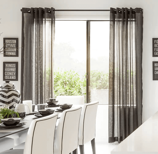 Curtains Ideas black sheer curtain : Black Curtains | 6 Rooms to get you decorating with black ...
