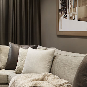 how to style with latte or taupe coloured curtains and create