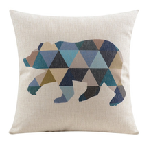Blue Scandinavian Bear Cushion Cover | Sold Out!