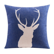 Deer Cushion Linen Cotton Cushion Cover Dark Blue 45cm x 45cm | Sold Out!