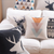 Scandinavian Cushion Collection 3 Pastel Triangles and Black Deer