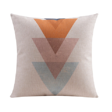 3 Pastel Triangles Cushion Cover Linen Cotton 45cm x 45cm | Sold Out!