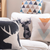 Scandinavian Cushion Collection Black Deer and Pastel Triangles