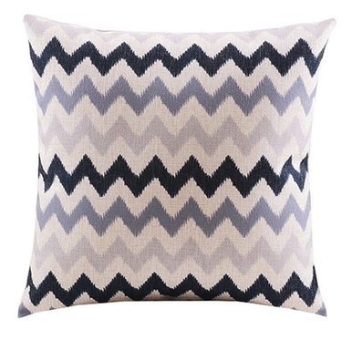 Black and Grey Zig Zag Cushion Cover