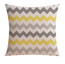 Yellow and Grey Zig Zag Cushion Cover | Sold Out!