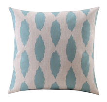 Aqua Eclipse Linen Cushion Cover