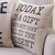 Today is  Gift Cushion Cover Linen and Black