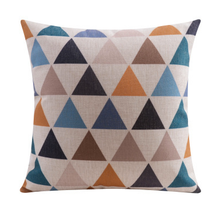 Geo Triangle Linen Cushion Cover 45cm X 45cm