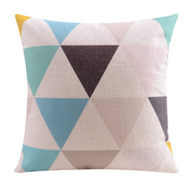 Pastel Geo Triangle Linen Cushion Cover 45cm X 45cm | Sold Out!