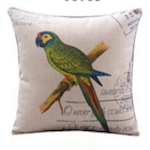 Blue Face Parakeet Cushion Cover