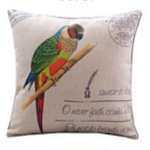 Rainbow Parrot Cushion Cover