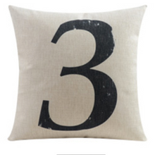 Number Three 3 Cushion Cover