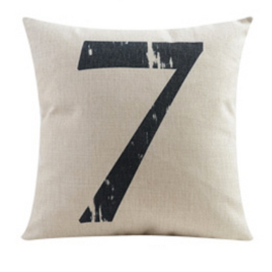 Number Seven 7 Cushion Cover