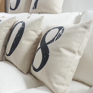 Numeral Cushion Covers