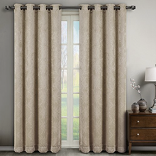 Velvet Embossed Thermal Eyelet Curtains | 4 Sizes
