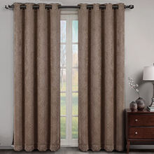 Velvet Embossed Thermal Eyelet Curtains | 4 Sizes!
