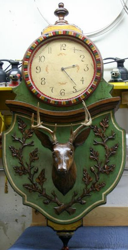 Ty Loyola Large Deer Clock