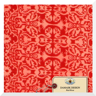 Lisa Corti Canvas Damask Red Rose - Fabric (0.25m)