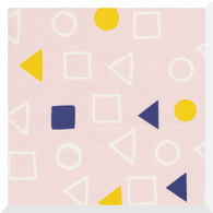 Lines & Shapes by Leah Duncan - Geometry Chalk Pink - 100% Organic Cotton CANVAS (0.25m)