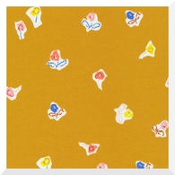 TO MARKET to Market by Emily Isabella - Sidewalk Flowers Gold - 100% Organic Cotton (0.25m)