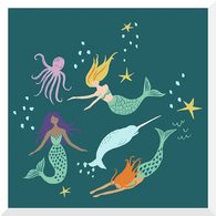 DUE END JAN - MAGICAL CREATURES by Monaluna | Mermaid Party | Organic Cotton Poplin (0.25m)
