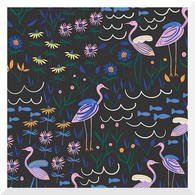 WILD by Leah Duncan | Island of the Moon | Black | 100% Organic Cotton BATISTE (0.25m)