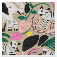 WILD by Leah Duncan | Jungle Forest | 100% Organic Cotton BARKCLOTH (0.25m)