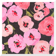LUSH by Juliet Meeks | Pink Poppies | 100% Organic Cotton BATISTE (0.25m)