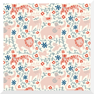 ENCHANTED KINGDOM | Hidden Flower Field | Cream | Organic Cotton Fabric (0.25m)