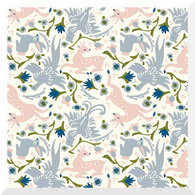ENCHANTED KINGDOM | Gathering | Cream |Organic Cotton Fabric (0.25m)