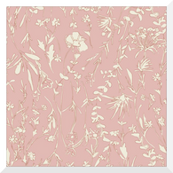 A HOUSE IN BLOOM | Vanessa Pink | Organic Cotton Fabric (0.25m)