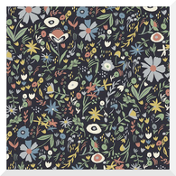 A HOUSE IN BLOOM | Virginia | Organic Cotton Fabric (0.25m)
