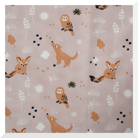 DREAMER | Bedtime Story | Heather | Organic Cotton Fabric (0.25m)