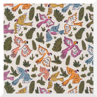 GARDEN OF EDEN | Joyous Parrots | Organic Cotton Fabric (0.25m)