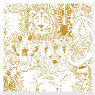 GRASSLANDS | Wild Thing | Gold | Organic Cotton Fabric (0.25m)